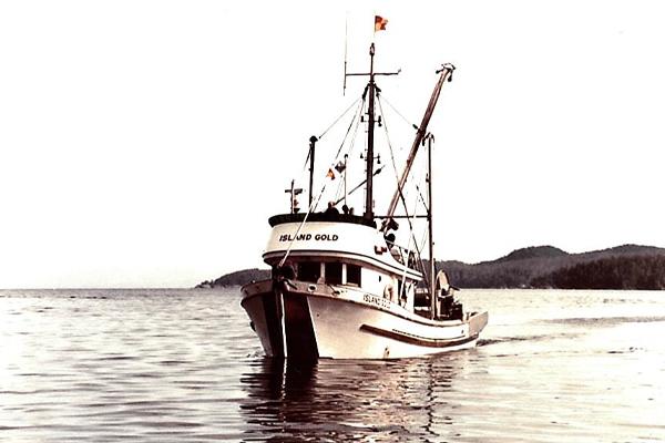 Island Gold Fishing Boat